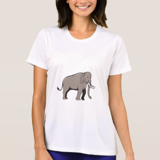 Indian Elephant Side View Cartoon T-shirt