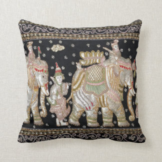 Indian Elephant Tapestry Cushion