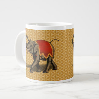 Indian Elephant w Red Cloth Extra Large Mugs