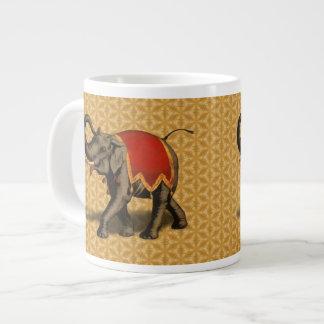 Indian Elephant w/Red Cloth Jumbo Mug