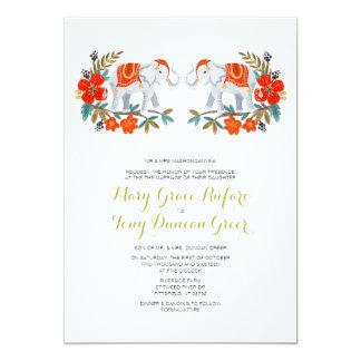 Indian Elephant Wedding Invitation