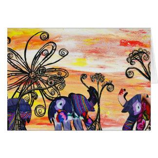Indian Elephants Card