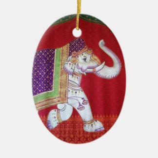 Indian elephants christmas ornament