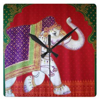 Indian elephants clock