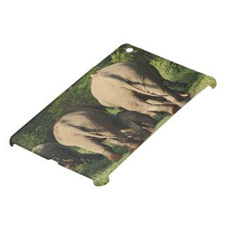 Indian Elephants on the jungle track,Corbett iPad Mini Case