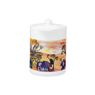 Indian Elephants Teapot