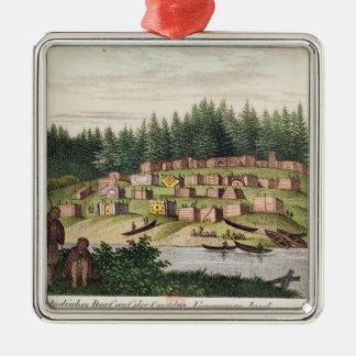 Indian Encampment on Quadra Island Christmas Ornament
