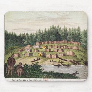 Indian Encampment on Quadra Island Mouse Pad