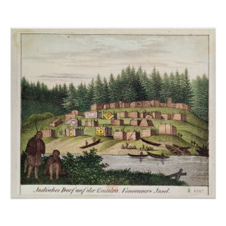 Indian Encampment on Quadra Island Poster