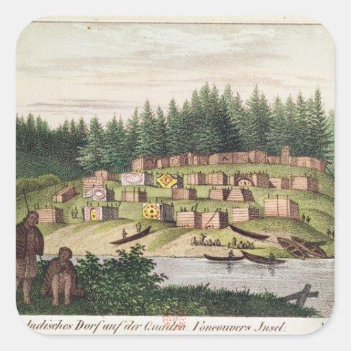 Indian Encampment on Quadra Island Sticker