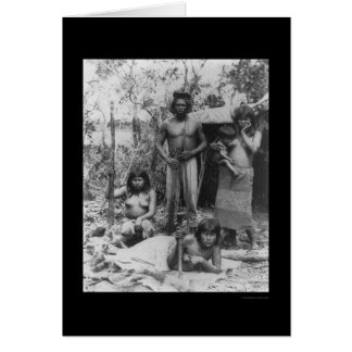 Indian Family in the Amazon in Brazil 1902 Card