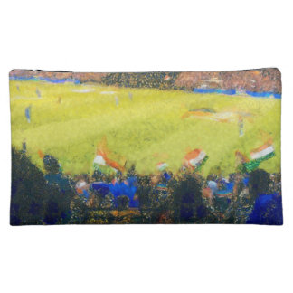 Indian fans at a cricket match cosmetics bags