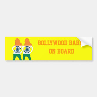 Indian flag and bollywood babes fun bumper sticker