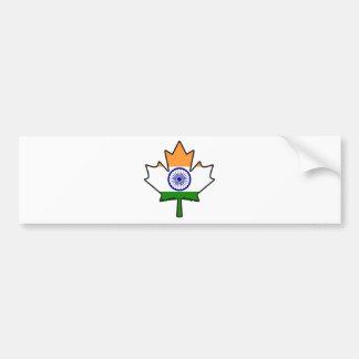 Indian Flag Maple Leaf Bumper Sticker