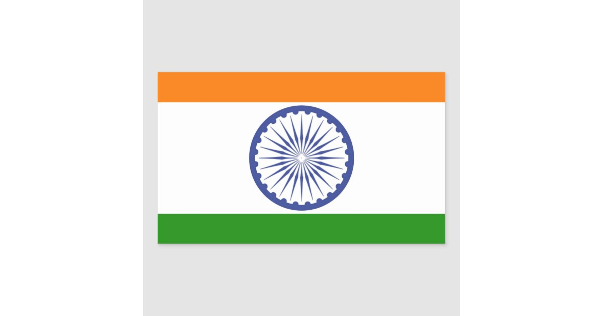 Indian Flag With Different Views: Indian Flag Rectangular Sticker