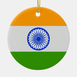 Indian Flag Round Ceramic Decoration