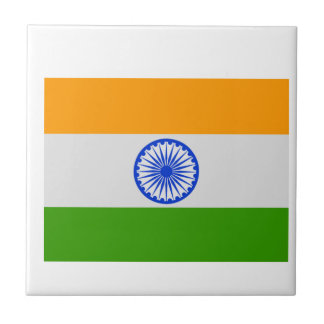 Indian Flag Small Square Tile