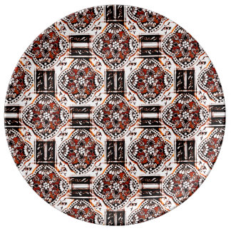 Indian Floral Tile Style Plate