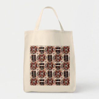 Indian Floral Tile Style Tote Bag