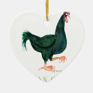 INDIAN GAME HEN, tony fernandes Ceramic Heart Decoration