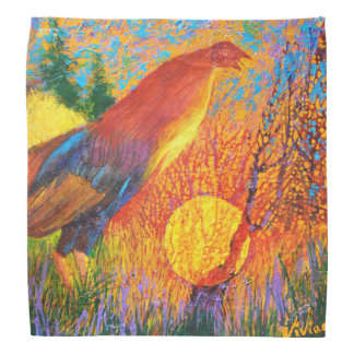 Indian gamecock / natural habitat /  bandana