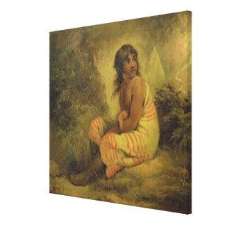 Indian Girl, 1793 (oil on canvas mounted on panel)