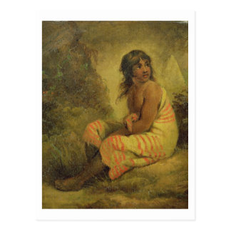 Indian Girl, 1793 (oil on canvas mounted on panel) Postcard