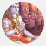 indian god round sticker