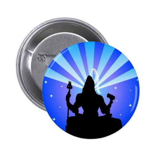 Indian god Shiva - Button
