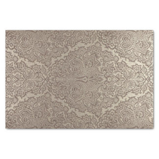 Indian Gold Damask Tissue Paper