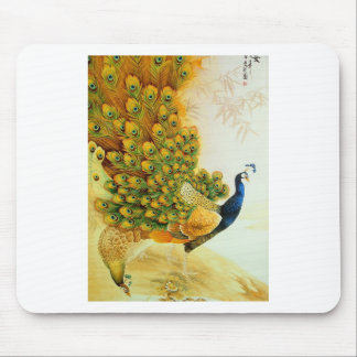 Indian Golden Peafowl Mouse Pads