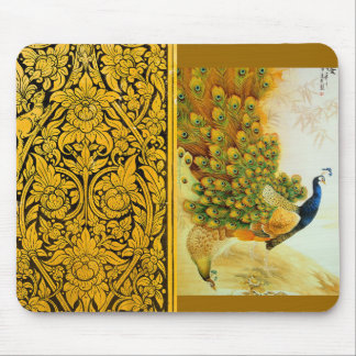 Indian Golden Peafowl Mouse Pad