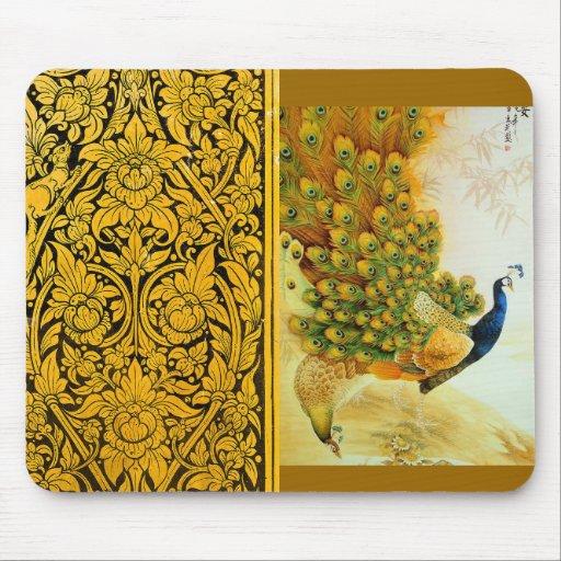 Indian Golden Peafowl Mousepad