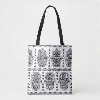 Indian Hand Drawn Hamsa Doodle 2 Tote Bag