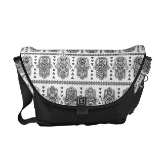Indian Hand Drawn Hamsa Doodle Courier Bags