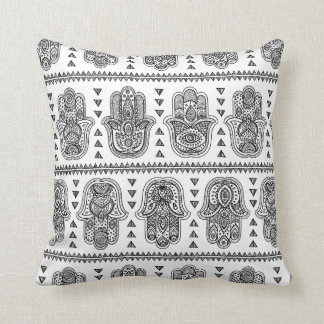 Indian Hand Drawn Hamsa Doodle Cushion