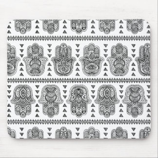 Indian Hand Drawn Hamsa Doodle Mouse Mat