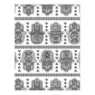 Indian Hand Drawn Hamsa Doodle Postcard