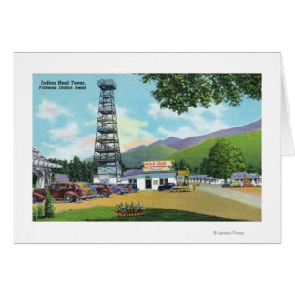 Indian Head and Indian Head Tower View Greeting Card