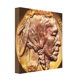 Indian Head Nickel Coin Collecting Wrapped Canvas Gallery Wrapped Canvas