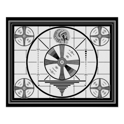 Indian Head Test Pattern 16 x 20 Poster