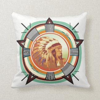 Indian Head Test Pattern Customizable Throw Pillow