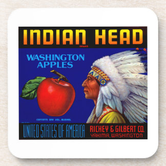 Indian Head Washington Apples Drink Coaster
