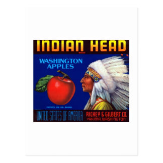 Indian Head Washington Apples Postcard