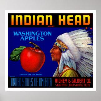 Indian Head Washington Apples Poster
