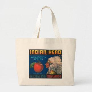 Indian Head Washington Apples Vintage Ad Jumbo Tote Bag