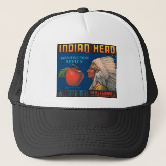 Indian Head Washington Apples Vintage Ad Trucker Hat