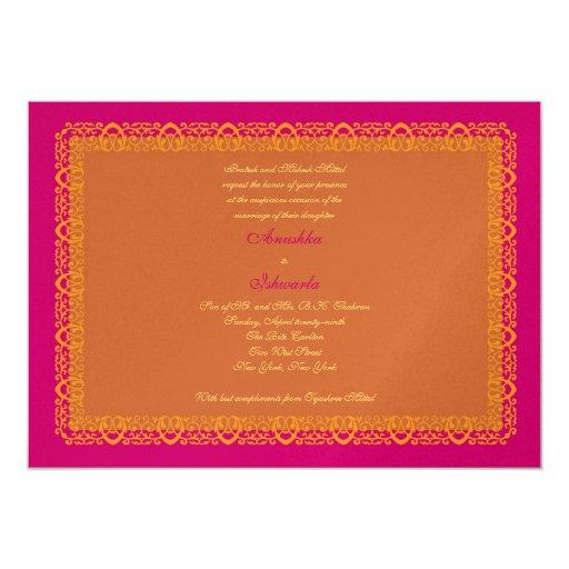 Indian Hindu Muslim Wedding Invitation Mehndi Zazzle