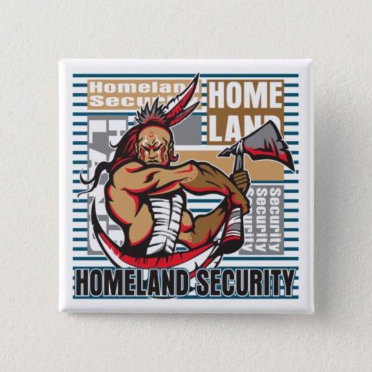 Indian Homeland Security 15 Cm Square Badge