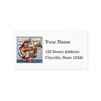 Indian Homeland Security Address Label